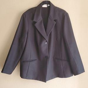 MACY'S Alfred Dunner Black Blazer Business Style S